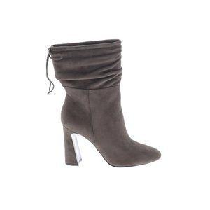 IMPO Solid Gray Mid Calf Zip Side Pointed Boots